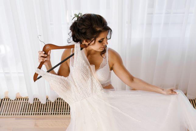 Шикарное свадебное платье А-Силуэт