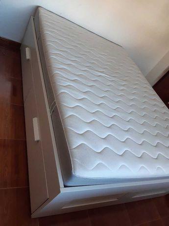 Cama Brimnes + Colchão Geresta (140x200cm, espuma firme)