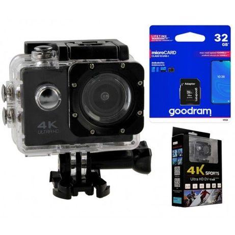 Kamera sportowa Pro 4K UHD Wi-Wi wodoszczelna + Karta 32GB T273K