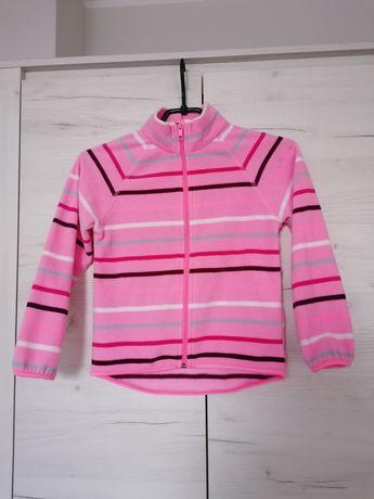 Bluza polar 110/116 H&M różowa dla dziewczynki w paski
