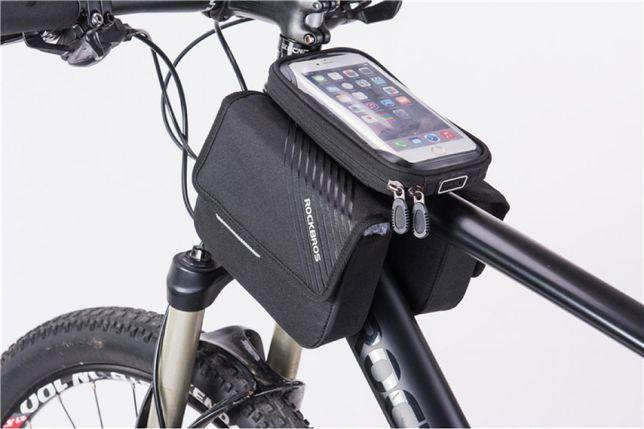 Велосипедная сумка ROCKBROS для установки на раму с двумя отделениями