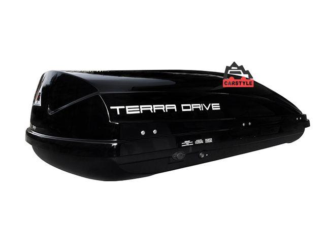 Бокс на крышу авто Terra Drive 440 литров черный глянец 175*85*44 см