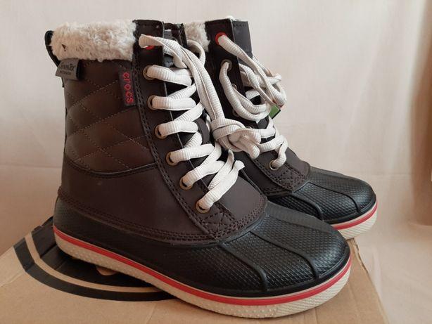 Зимние ботинки сноубутсы Crocs waterproof Оригинал стелька 21,8 р. 33