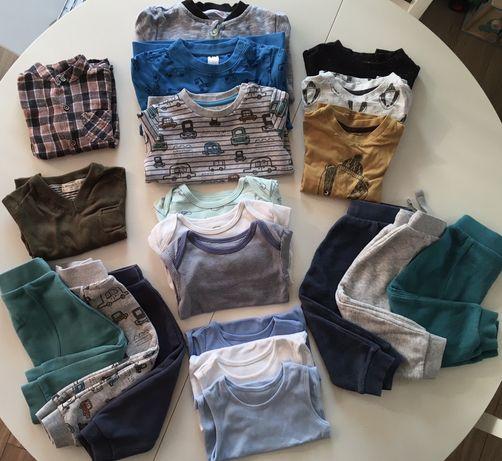 Mega paka ubrań, rozmiar 86, spodnie, bluza, body, bluzki chlopięce