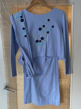 Sukienka do karmienia z haftem, może być ciążowa