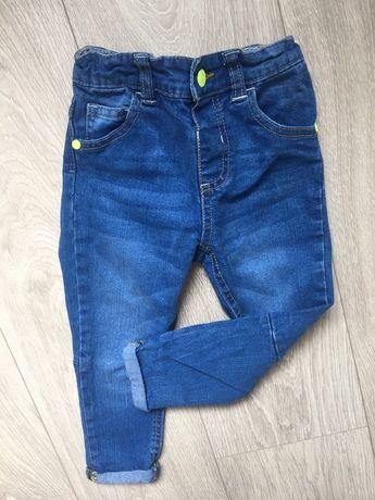 Spodnie rurki 92 dżinsowe jak nowe spodnie chłopięce