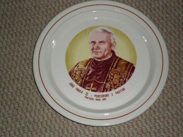 Prato loiça - João Paulo II -Peregrino e Pastor
