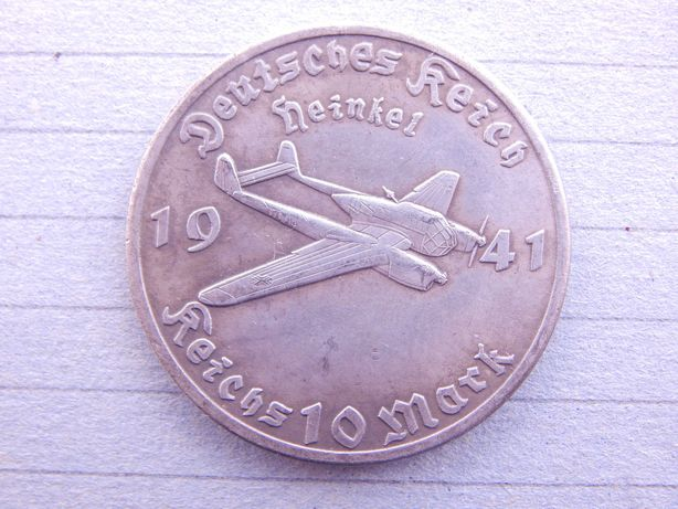 Монета Германия 10 Рейхс Марок 1941 год