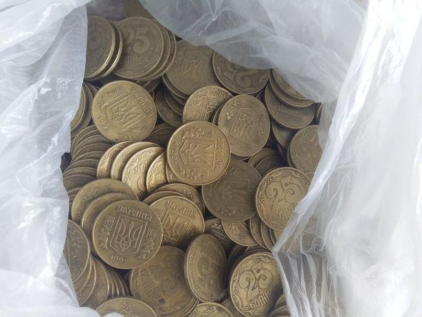 Продам монеты оптом 25коп 1992года.
