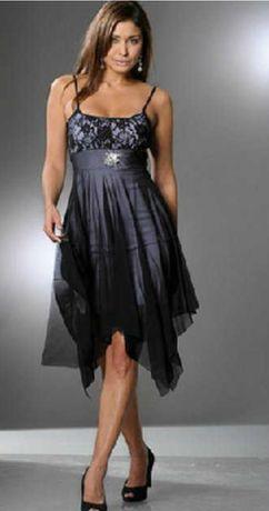 Nowa sukienka rozkloszowana koronka odpinana broszka