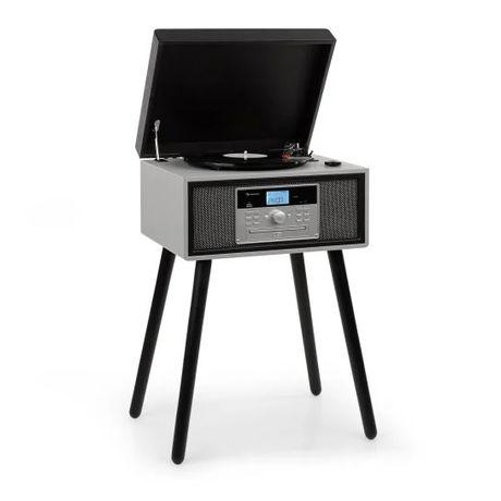 AUNA gramofon, 33/45/78 obr./min, CD, UKF, Bluetooth, USB nóżki