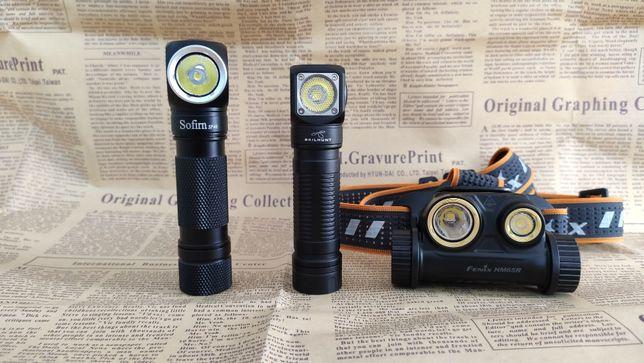 Fenix HM65R, Skilhunt H04 RC и Sofirn SP40 - налобные фонари