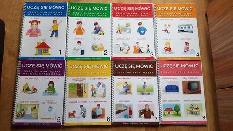 Zestaw Uczę się mówić Zeszyt do nauki języka metodą krakowską