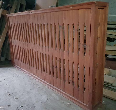 osłona - obudowa grzejnika, drewno 190 cm dł., 102 cm wys., 19 cm gł.