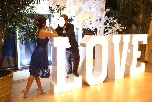 SPRZEDAM napis DUŻE litery LOVE na ślub wesele