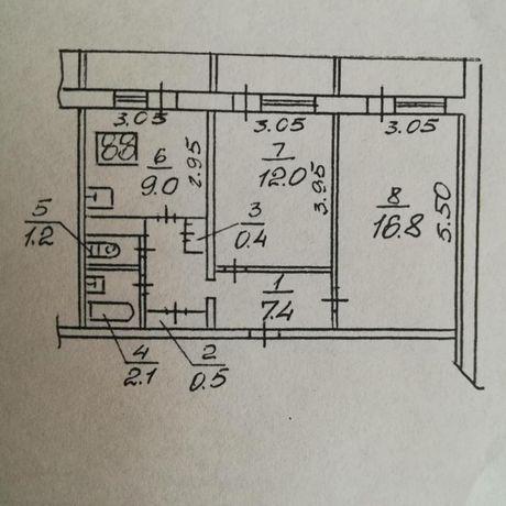 Продам шикарная 2 - х комнатная квартира