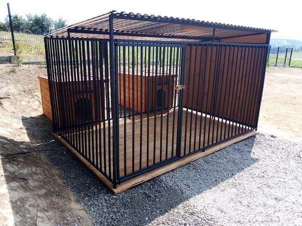 typowy kojec dla psa, buda ocieplana, wiata, drewutnia i inne