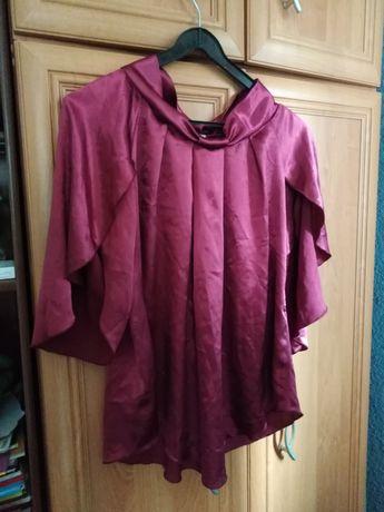 Różowa satynowa bluzka L