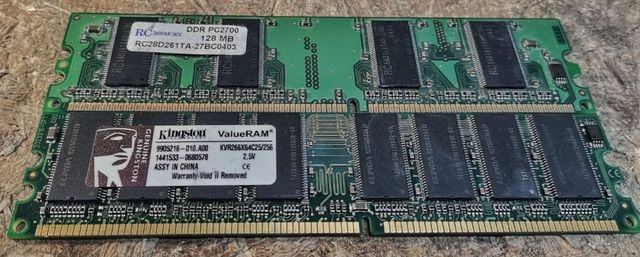Оперативная память (ОЗУ) ДДР1 128 / 256 мб
