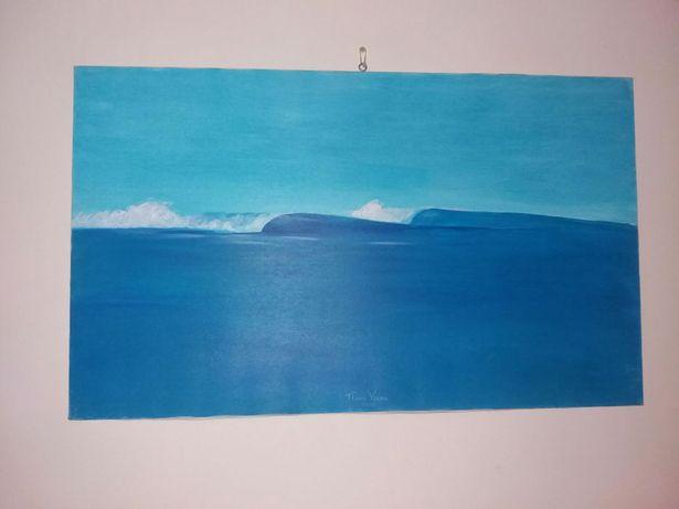 quadro onda de praia
