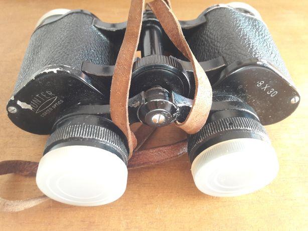 Binóculos Hunter antigos anos 50/60, lentes8x30 com bolsa. Urgente