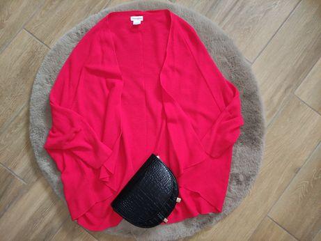 Przepiękny czerwony sweterek M