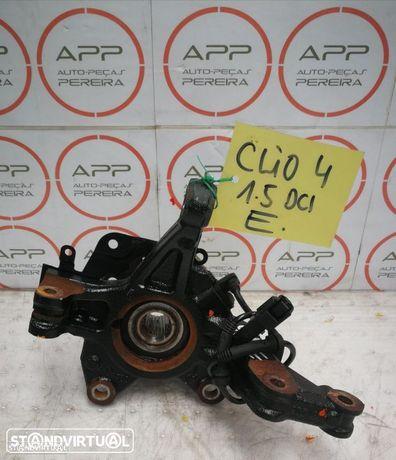 Mecânica de roda esquerda Renault Clio 4 1.5 DCI, manga de eixo, amortecedor, braço, transmissão.