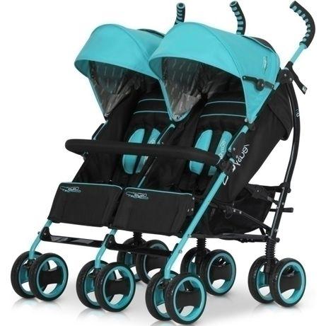 EASY GO Wózek dla bliźniąt DUO Comfort MALACHITE