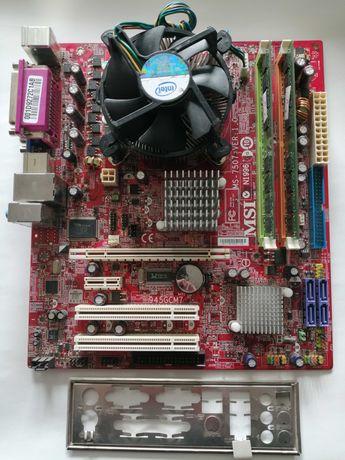 Материнская плата MSI 945GCM7 (MS-7507) S775, процессор Intel E2180 ++