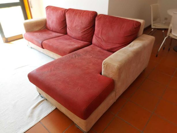 Sofá 2 lugares + chaise longue