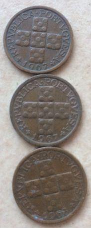 3 moedas de 10 centavos de 1967