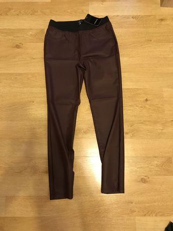 Spodnie 40 L Reserved woskowe damskie nowe