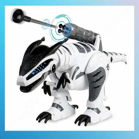 Интерактивный робот динозавр с пушкой на радиоуправлении