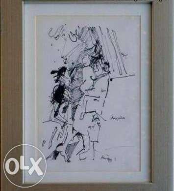 JÚLIO RESENDE - Litogravura de 28x19cm