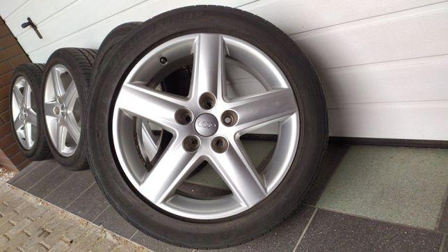 Koła aluminiowe AUDI A4 A6 17' 5x112 opony letnie 235/45/17 VW SKODA