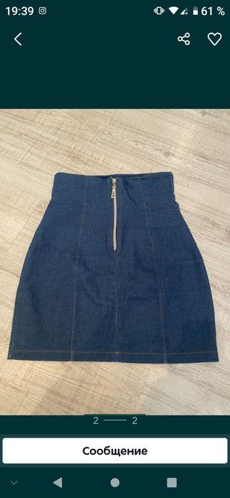 Джинсовая юбка на молнии Краматорск - изображение 1