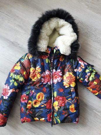 Продам куртку детскую теплую 98 см