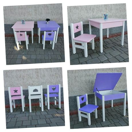 Детский стульчик и столик, стульчик для ребенка, столик и стульчик
