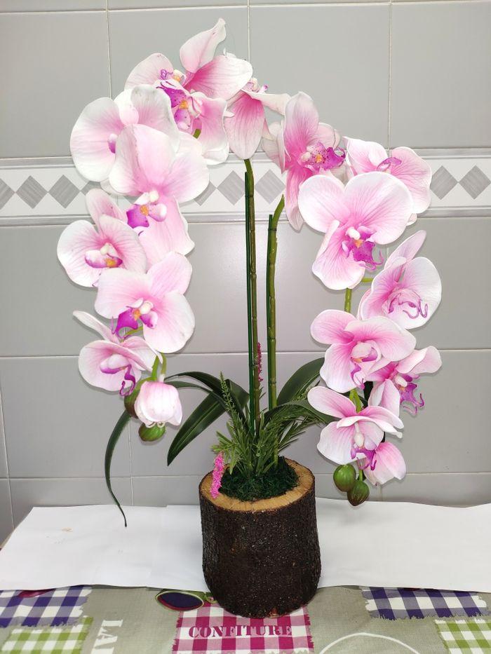 orquídeas artificiais de excelente  (arranjo floral)  (ler descrição)