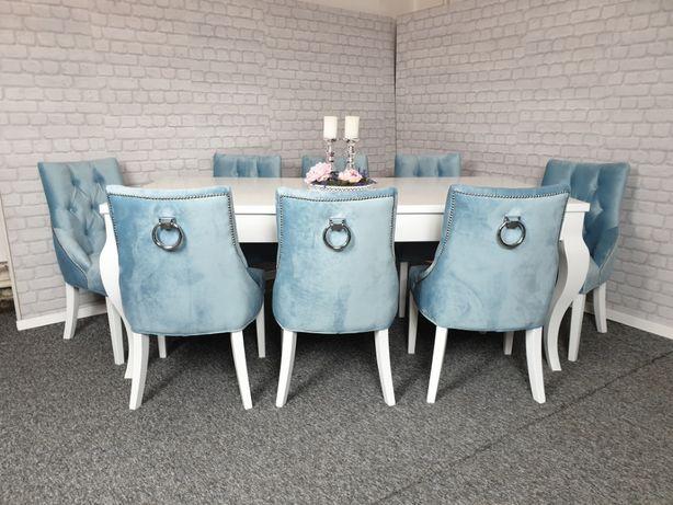 Eleganckie krzesło HAMPTON tapicerowane z kołatką nowe