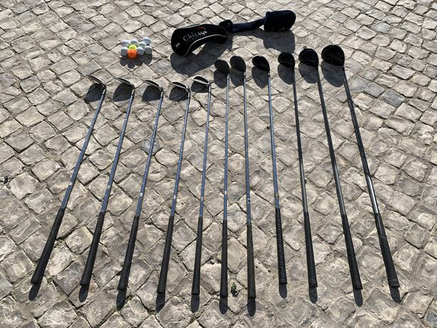 Conjunto de 11 tacos golfe drive e put