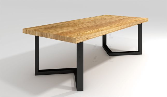 Stół dębowy Loftowy LOUIS 200 cm x 100 cm STYL LOFT