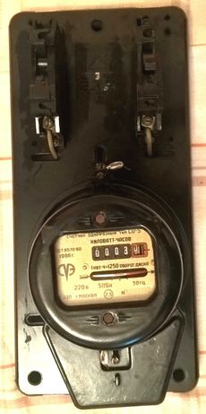 Щиток автомат счетчик электрический карболит СССР