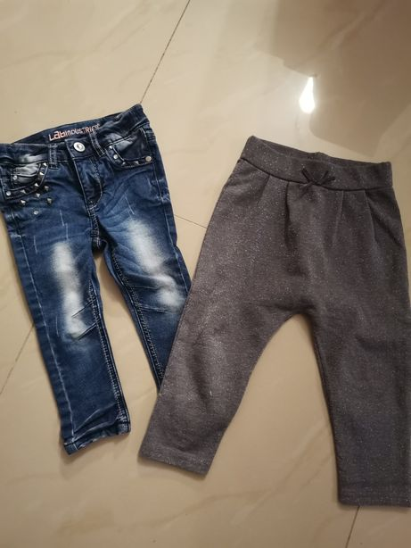 Zestaw spodni 86 jeansy Kappahl joggery pepco spodnie