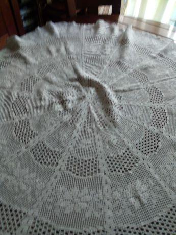 Toalha redonda de croché