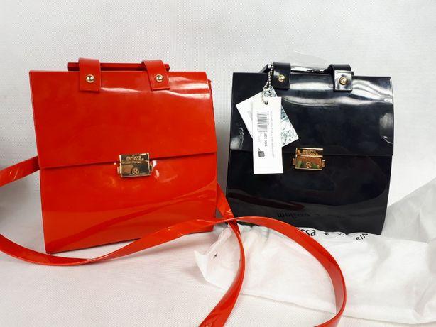 Nowa torebka kuferek MELISSA Pupila + Vitorino Camp czerwona czarna