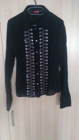 Czarna koszula damska z ozdobą Esprit (S)