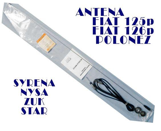 VINTAGE CHROM ANTENA FIAT 125p 126p Syrena Polonez FSO UNITRA oooooooo