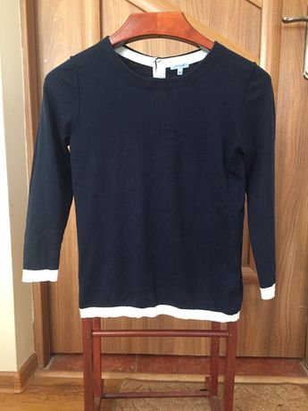 Sweter sweterek xs 34 Jigsaw z kaszmirem kaszmir cashmere  3/4 rękaw