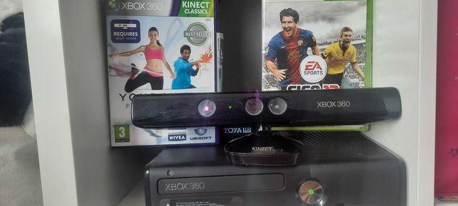Xbox 360 kinect + 3.gry